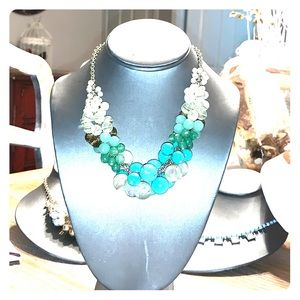 Vintage Lia Sophia turquoise beaded necklace!